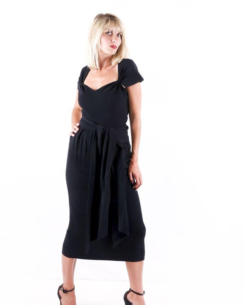 Robe longue sans manches noire Stella Mc Cartney