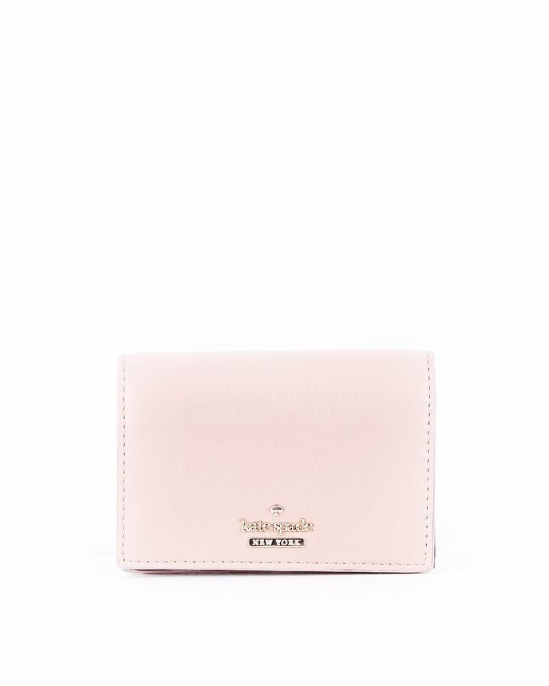 Portefeuille en cuir gainé rose Kate Spade