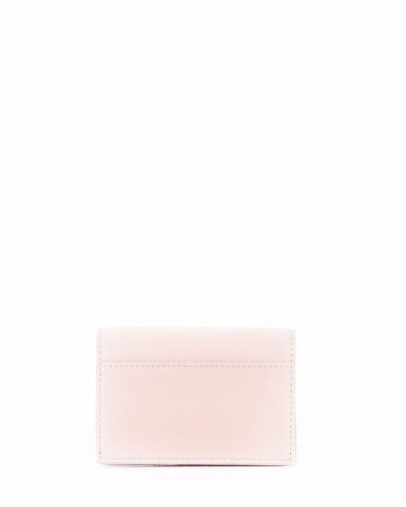 Portefeuille en cuir gainé rose Kate Spade