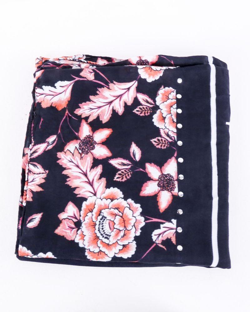 Foulard noir à imprimés florals Guess