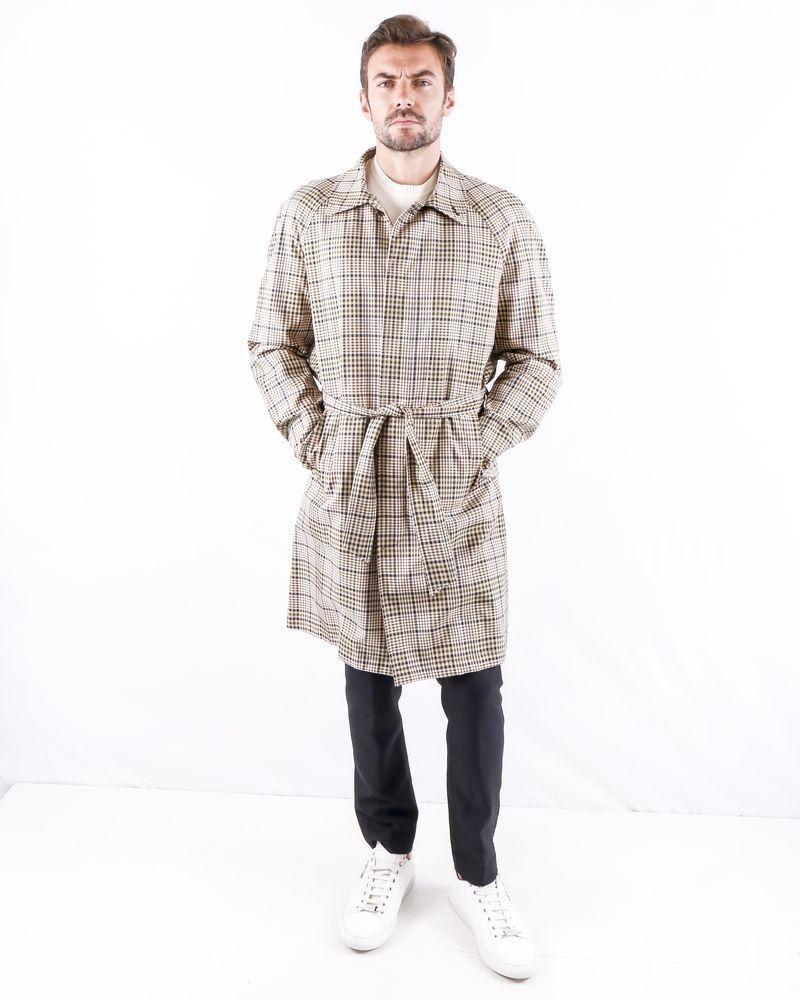 Trench coat beige à carreaux Palto