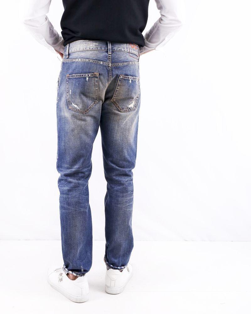 Jean skinny en coton bleu à déchirure Dondup