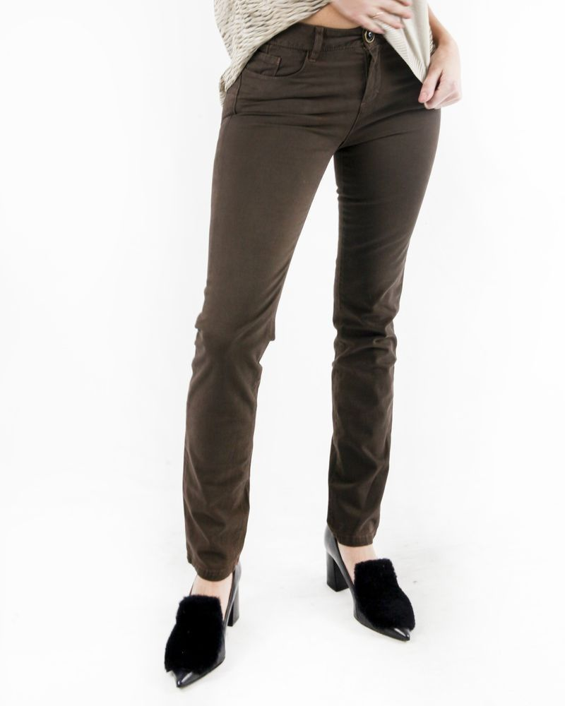 Pantalon 5 poches marron May June