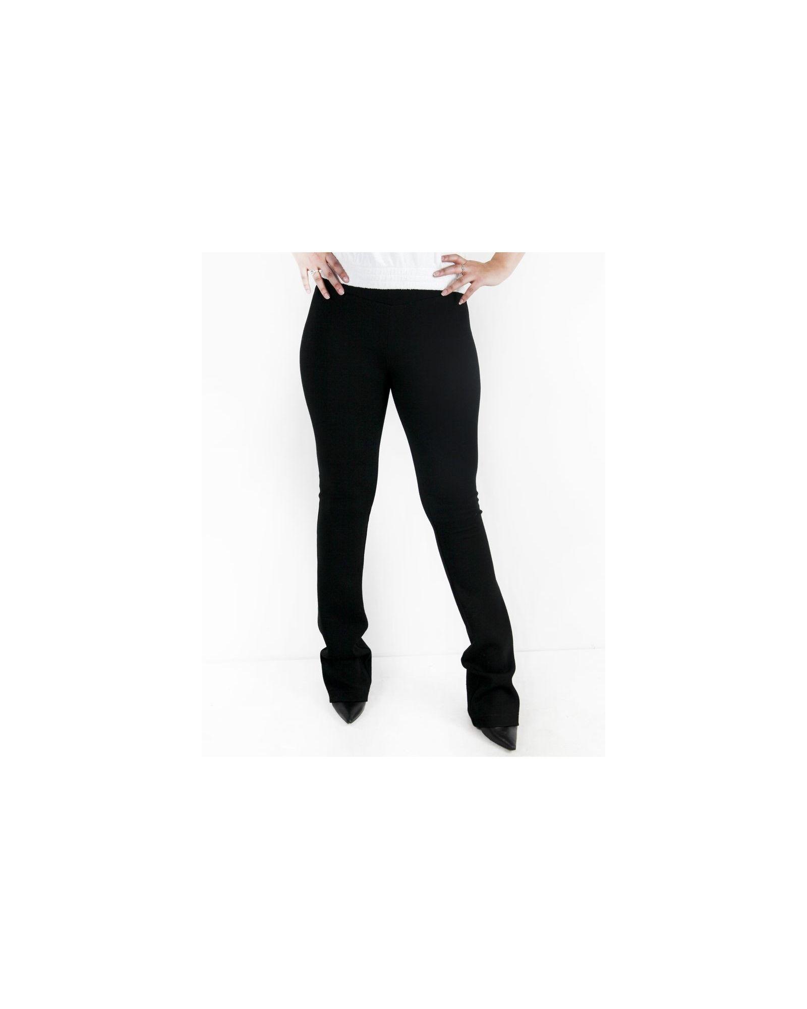 Pantalon palazzo en crêpe côtelé noir Balmain