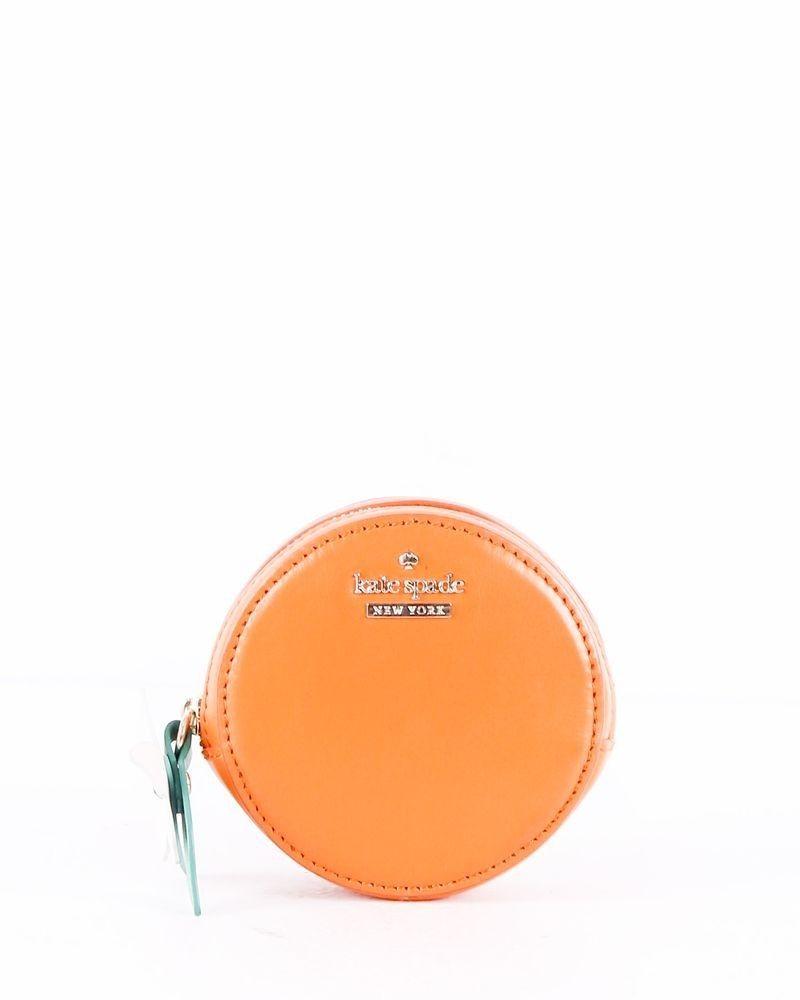 Porte monnaie façon clémentine en cuir orange Kate Spade