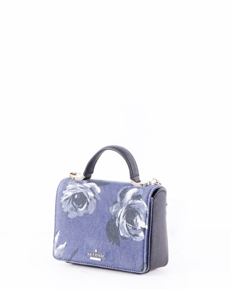 Sac à main bleu à motif floral Kate Spade