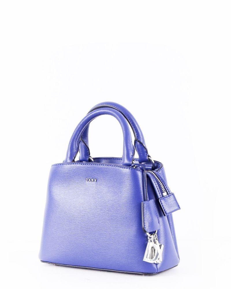 Sac à main en cuir irisé bleu DKNY