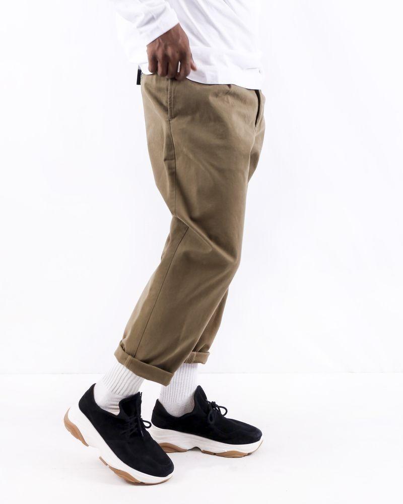 Pantalon carotte en coton taupe Low Brand