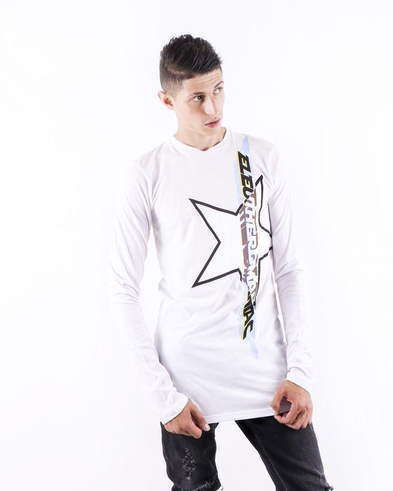 T shirt oversize blanc à flocage fantaisie John Galliano