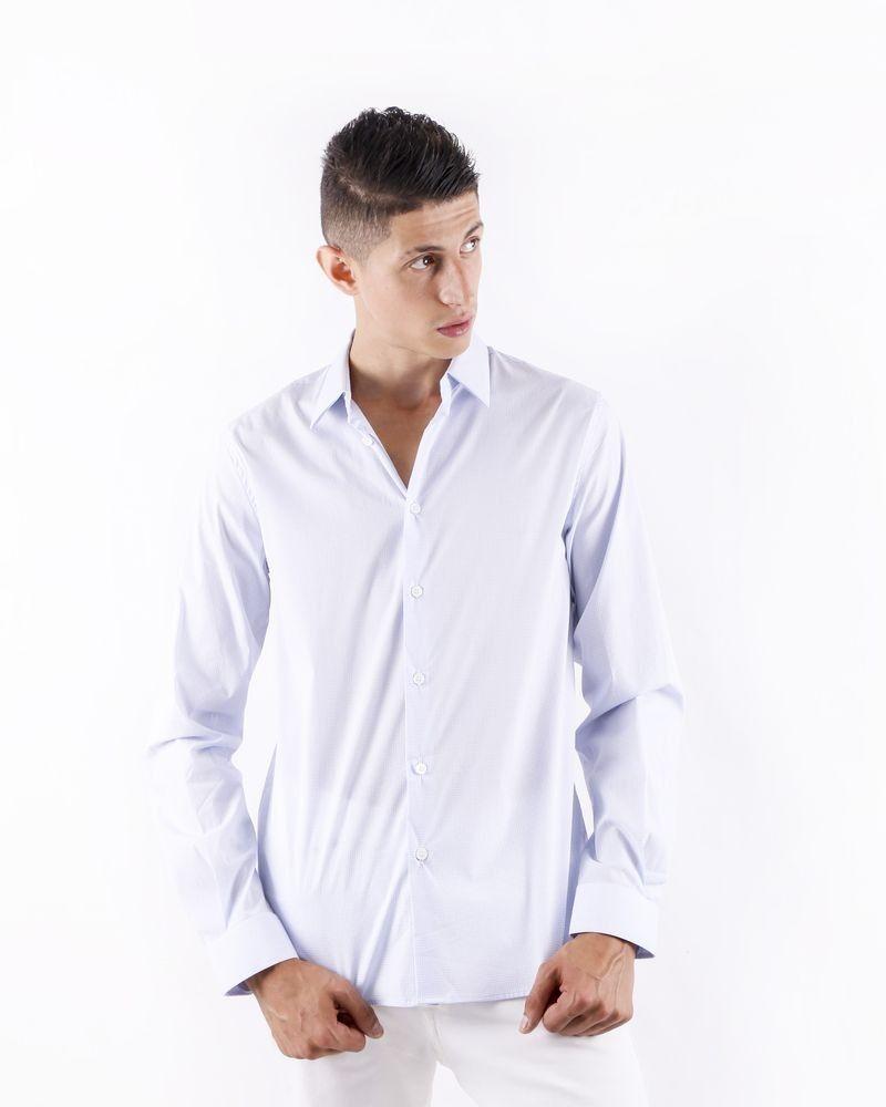 Chemise bicolore à petit carreaux Edition M.R