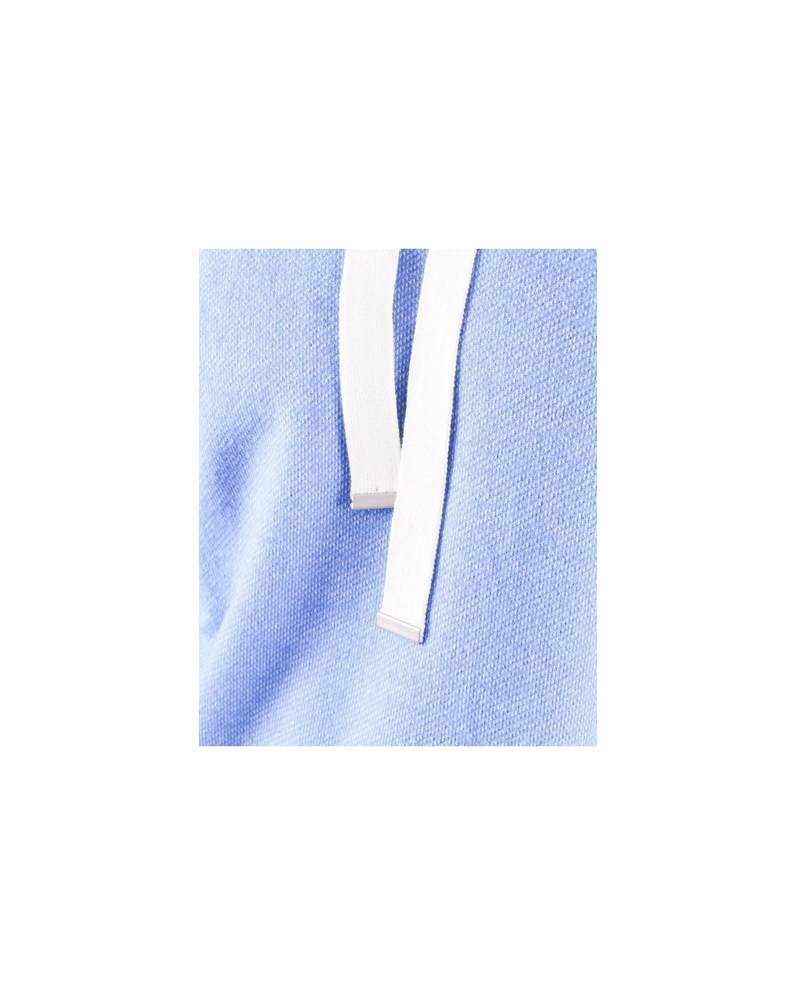 Sweat en alpaga bleu à bandes latérales Daniele Fiesoli