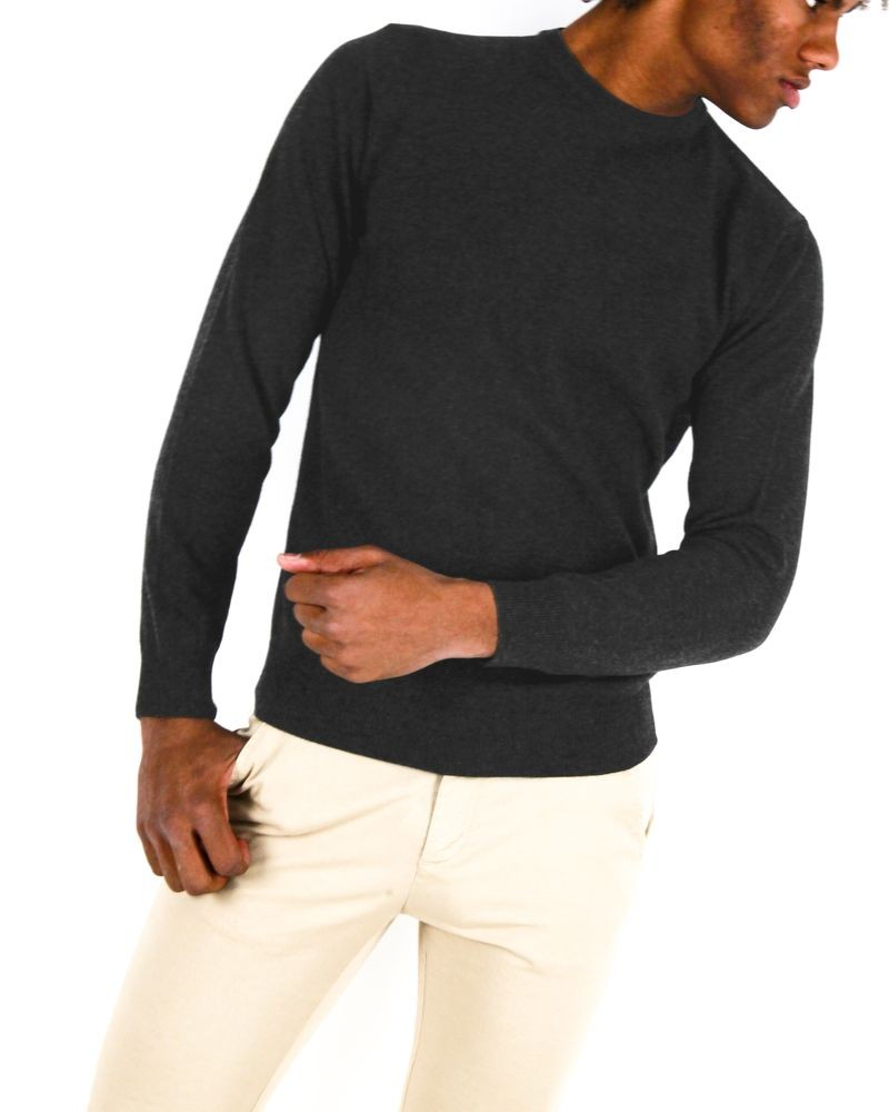 Pull gris col rond Casheart