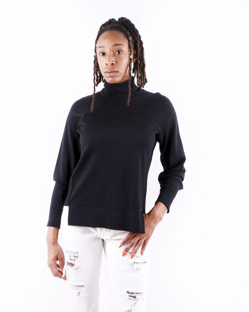 Pull en laine noire à col roulé Nenette