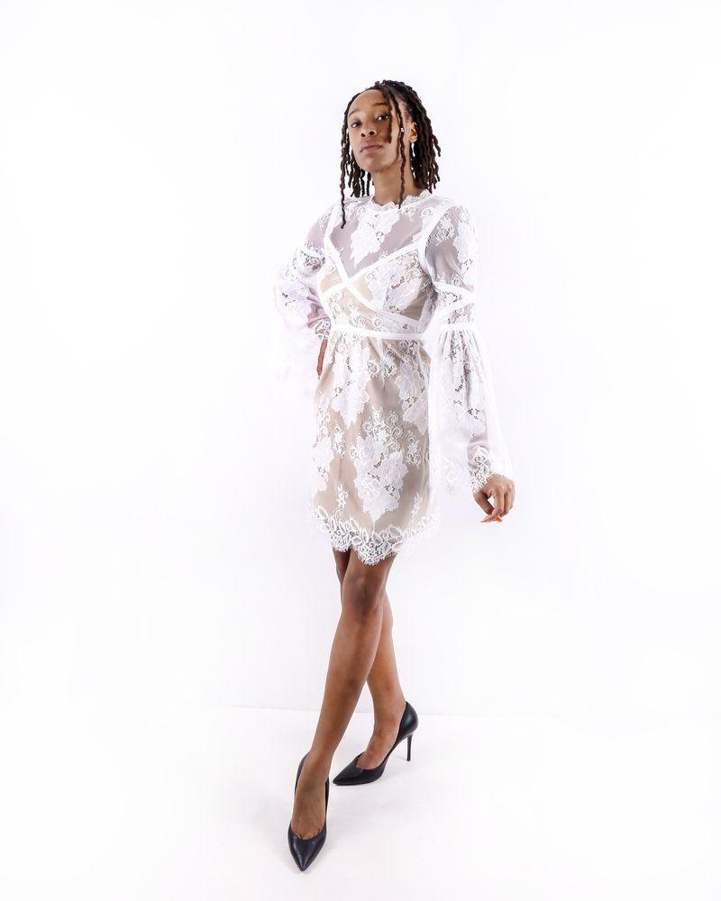 Robe en dentelle blanche Misha Collection