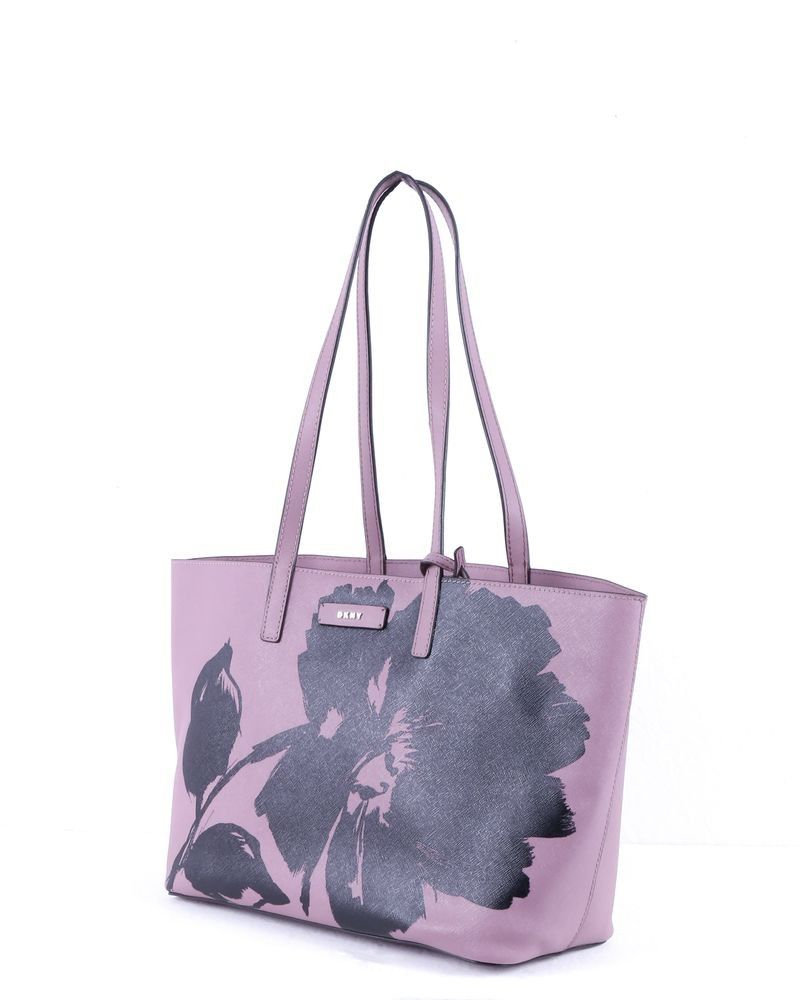 Sac rose à motif floral DKNY