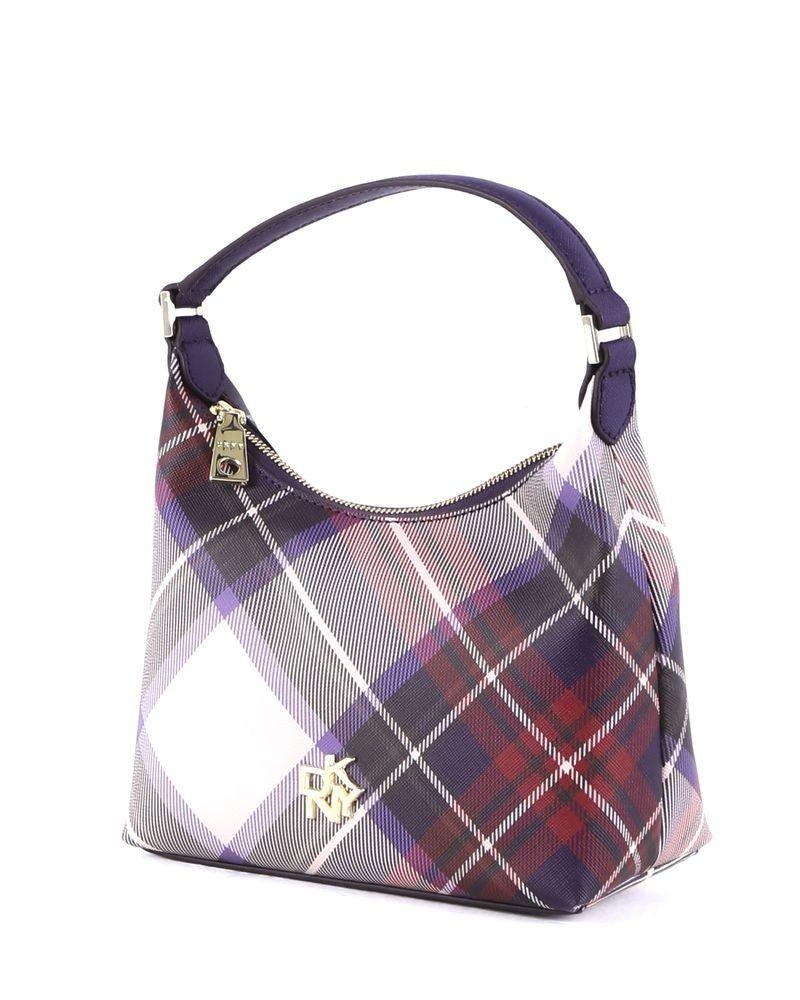 Petit sac à main tricolore à carreaux DKNY