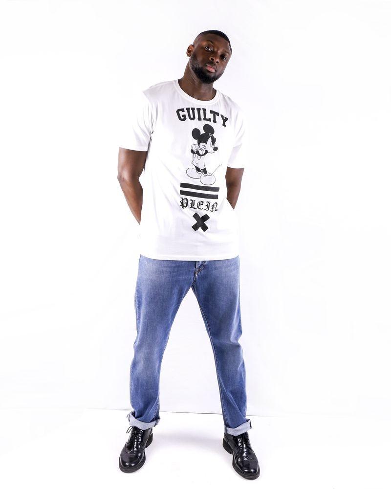 T shirt blanc à application fantaisie Philipp Plein