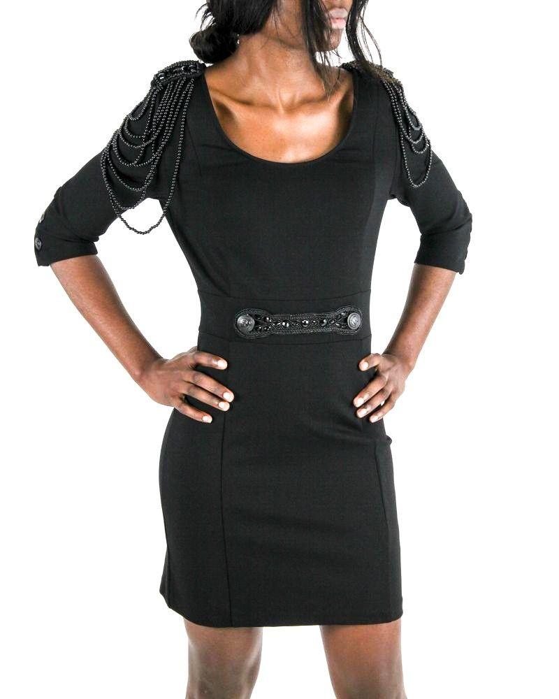 Robe noire Balmain