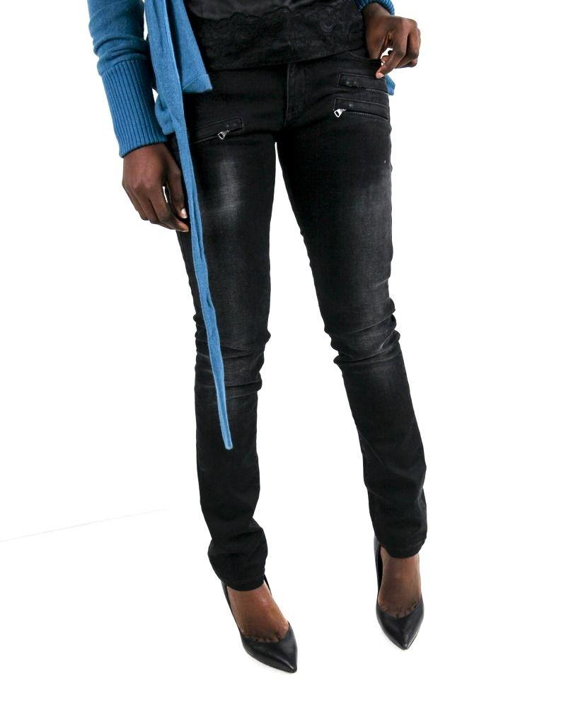 Jean noir délavé à poches fantaisie Balmain