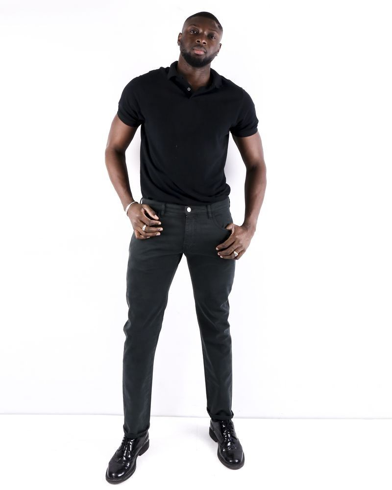 Pantalon regular en coton kaki Pal Zileri