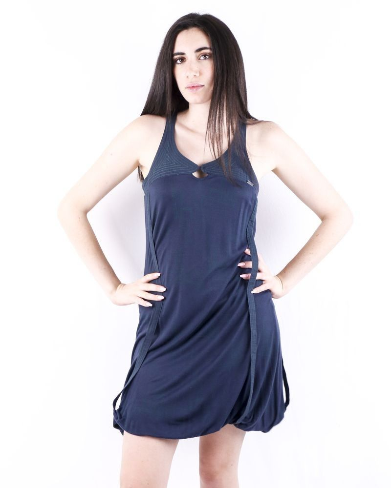Robe bleue à motifs géométriques Numph