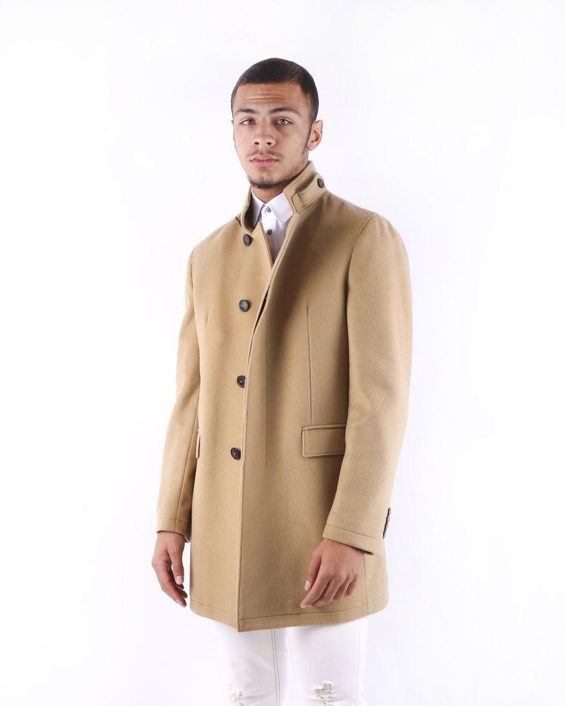 Manteau cintré en laine camel Ly Adams