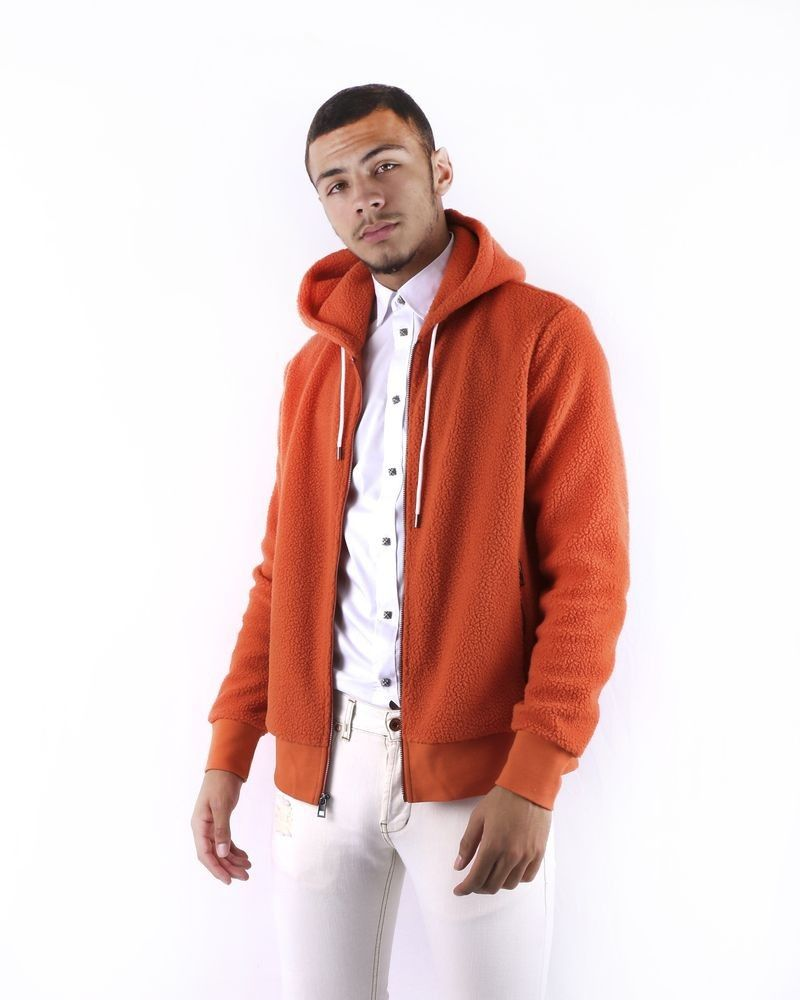 Sweat gilet orange molleton Mickael Kors