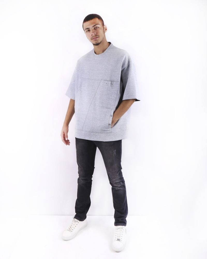 Sweat oversize gris Lost and found