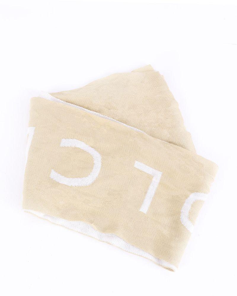 Foulard bicolore à logo Dolce and Gabanna