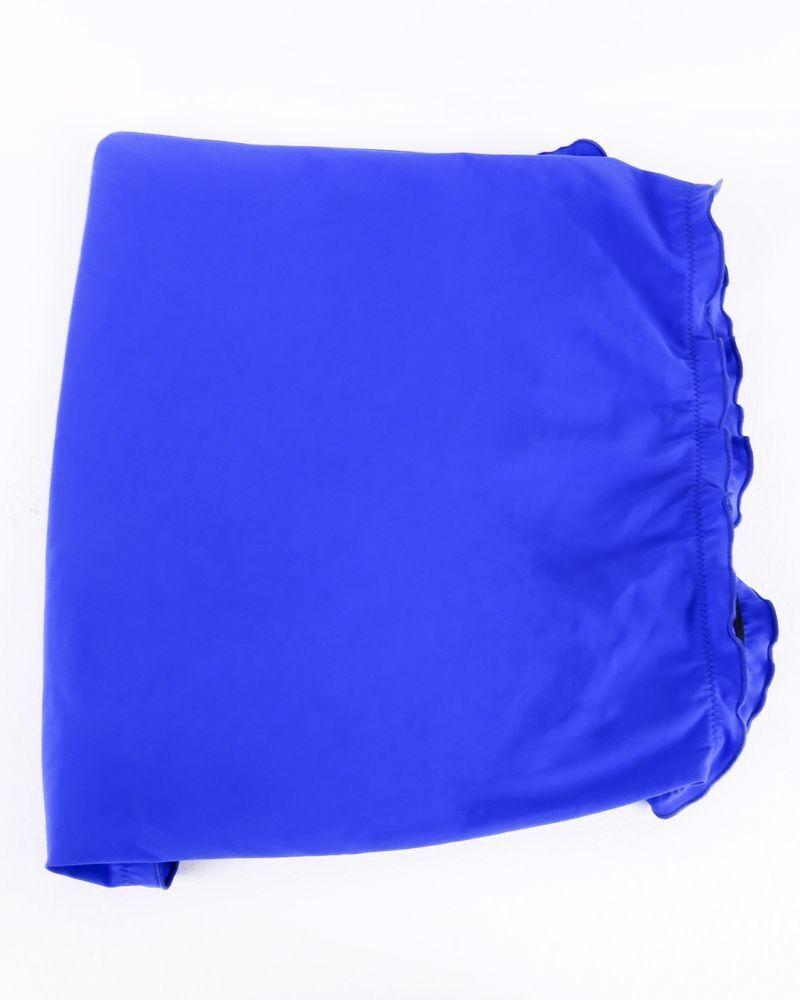 Foulard triangle bleu Carven