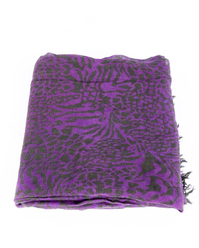 Foulard bicolore à motifs animal Faliero Sarti