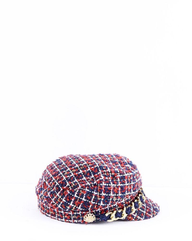 Casquette en tweed tricolore Edward Achour