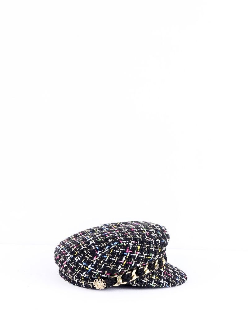 Casquette en tweed tricolore Edward Achour