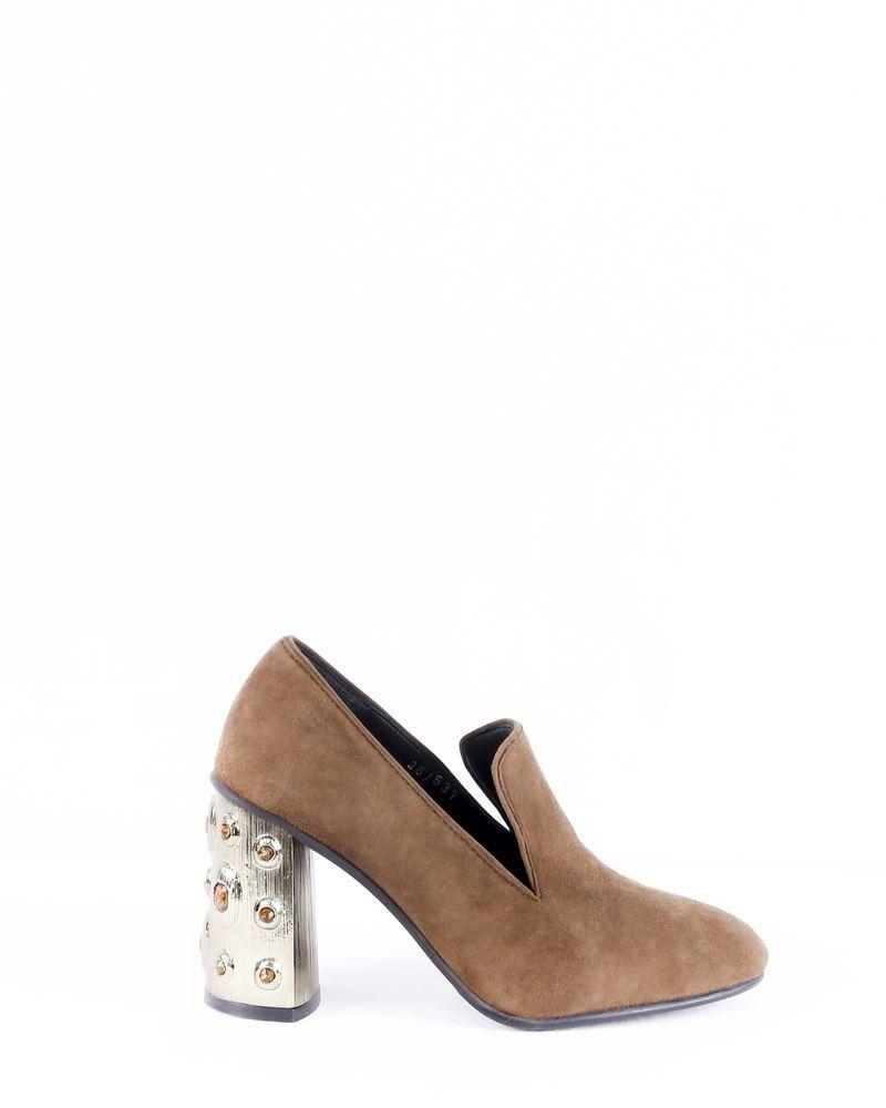 Sandales à talons fantaisie marron Casheart