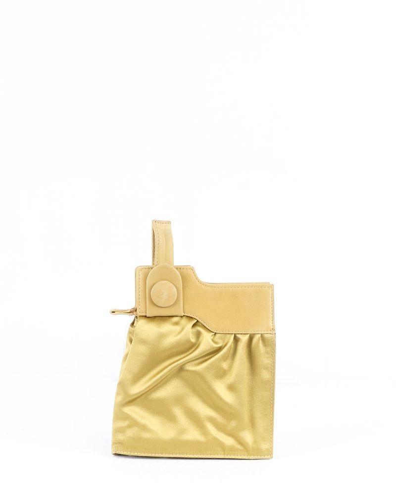 Portefeuille bi-matière doré Maison Margiela