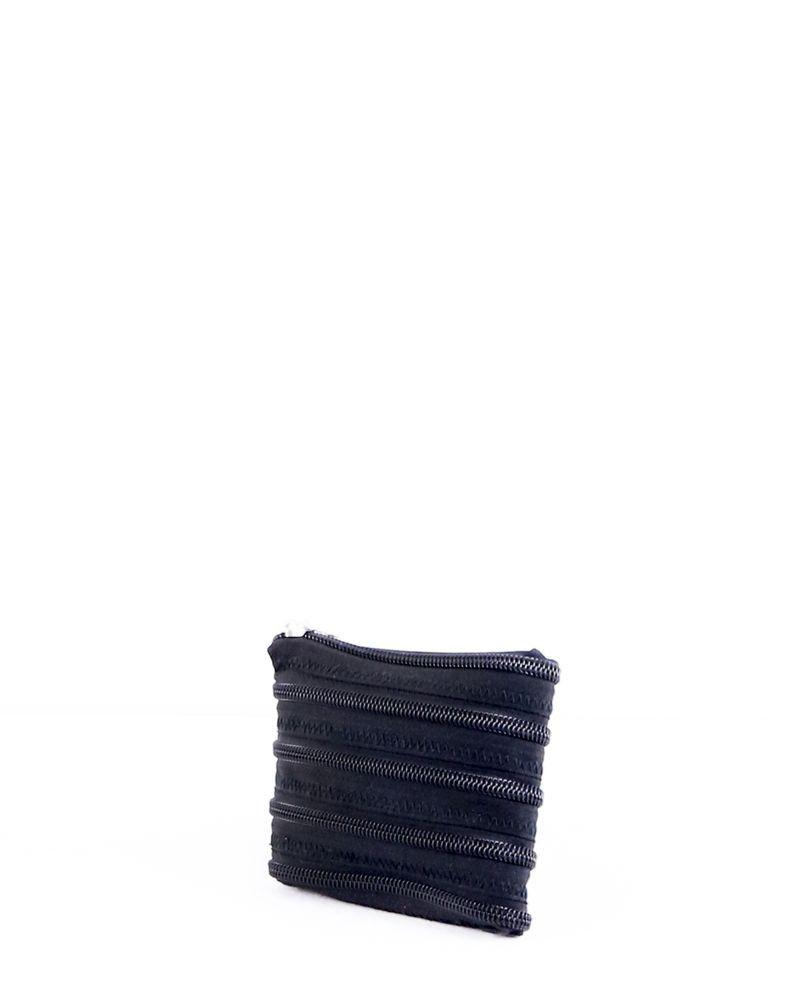 Grand porte monnaie facon zip noir Maison Margiela