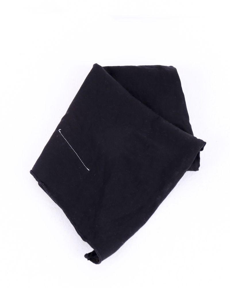 Foulard en coton noir Maison Margiela