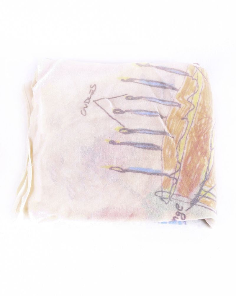 Foulard beige à motifs fantaisie Maison Margiela