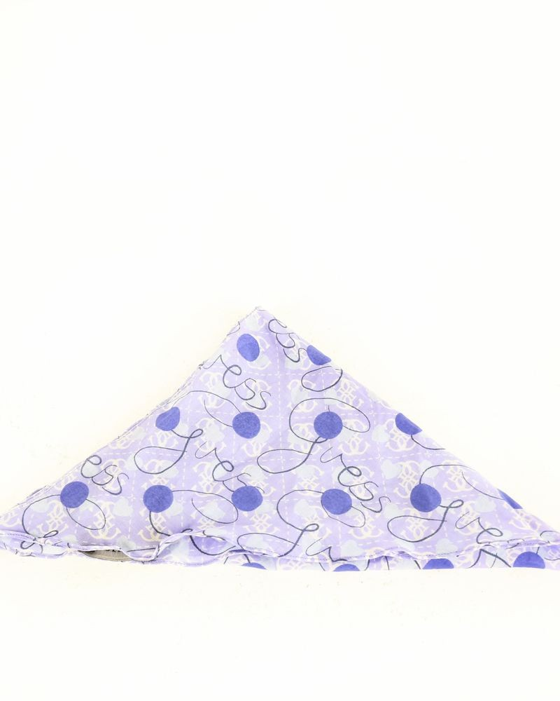 Bandana en soie violet à logo Guess