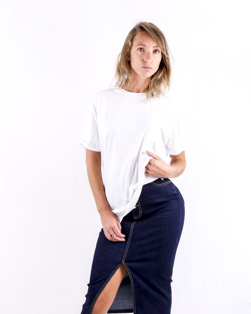 T-Shirt blanc à dos floqué Stella McCartney