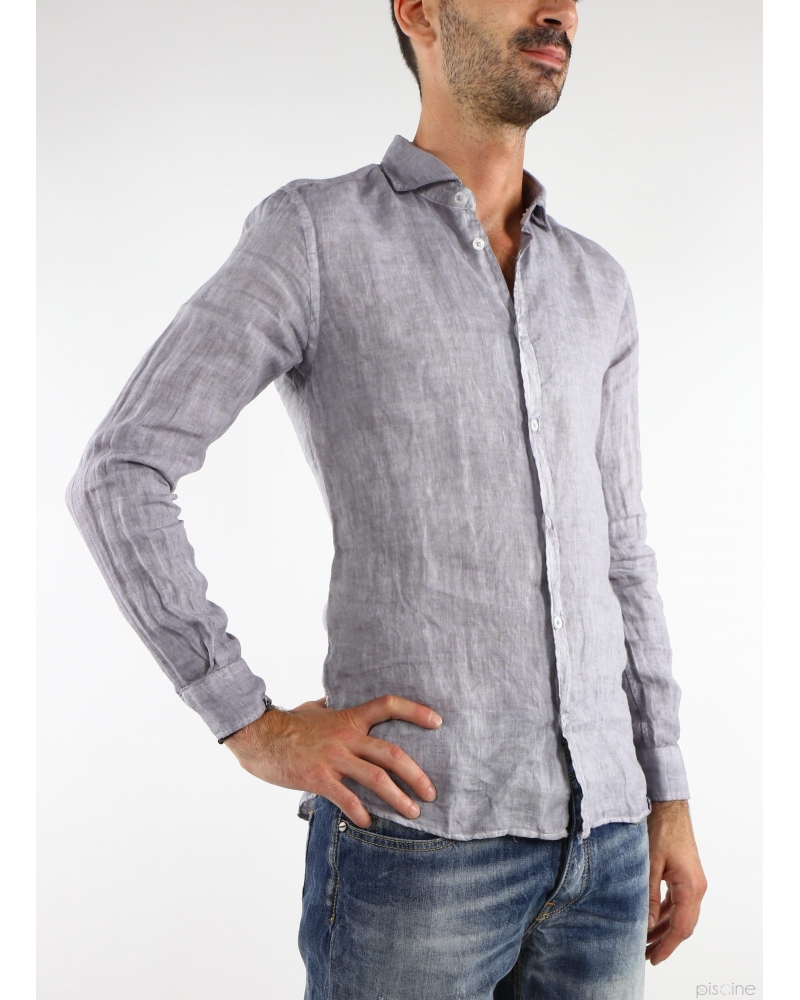 Chemise en lin grise Vente spéciale chemises