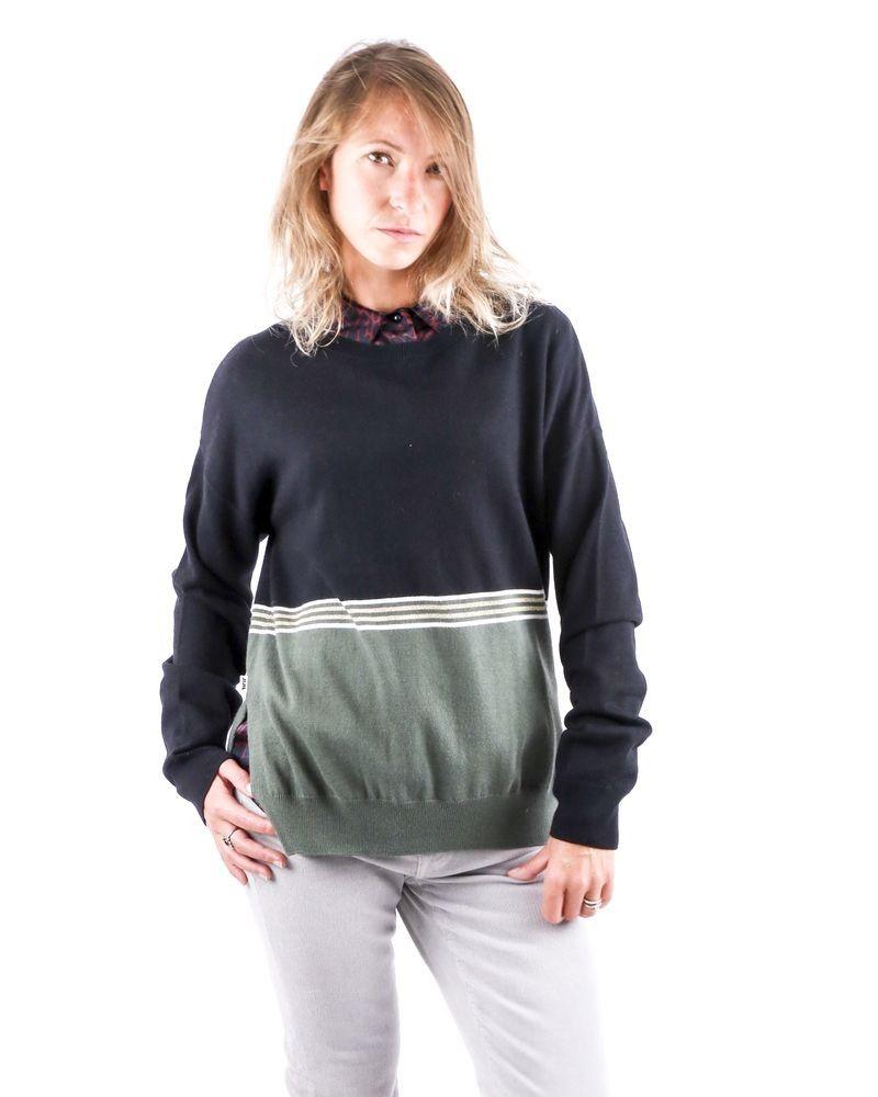 Pull en laine et cachemire tricolore Jijil