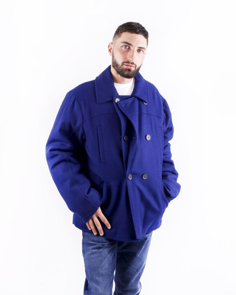 Gabardine en laine bleue électrique Frankie Morello