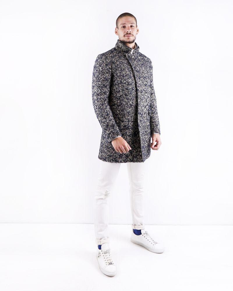 Manteau en laine bicolore Ly Adams