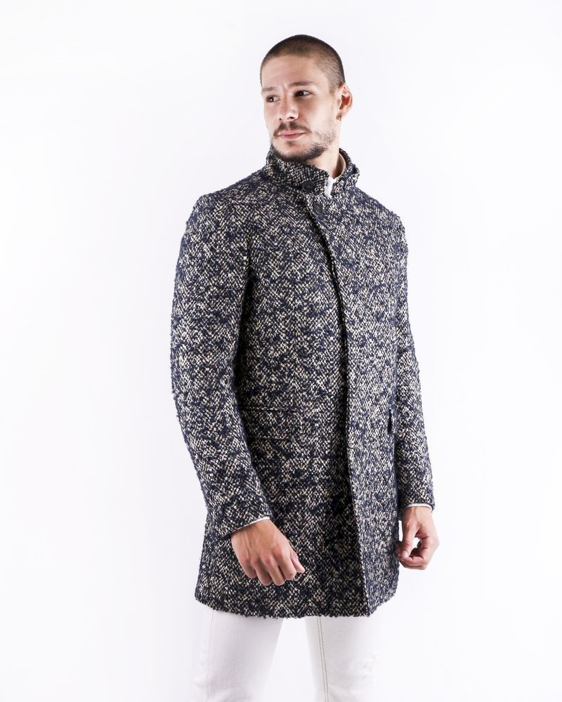Manteau en laine bicolore Ly Adams