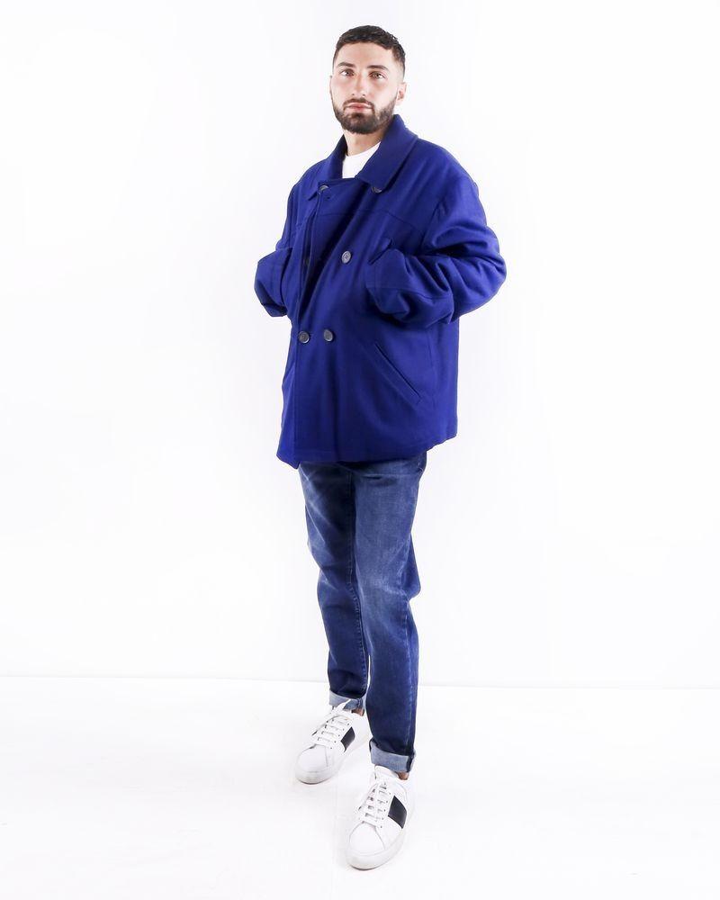Gabardine en laine bleu électrique Frankie Morello