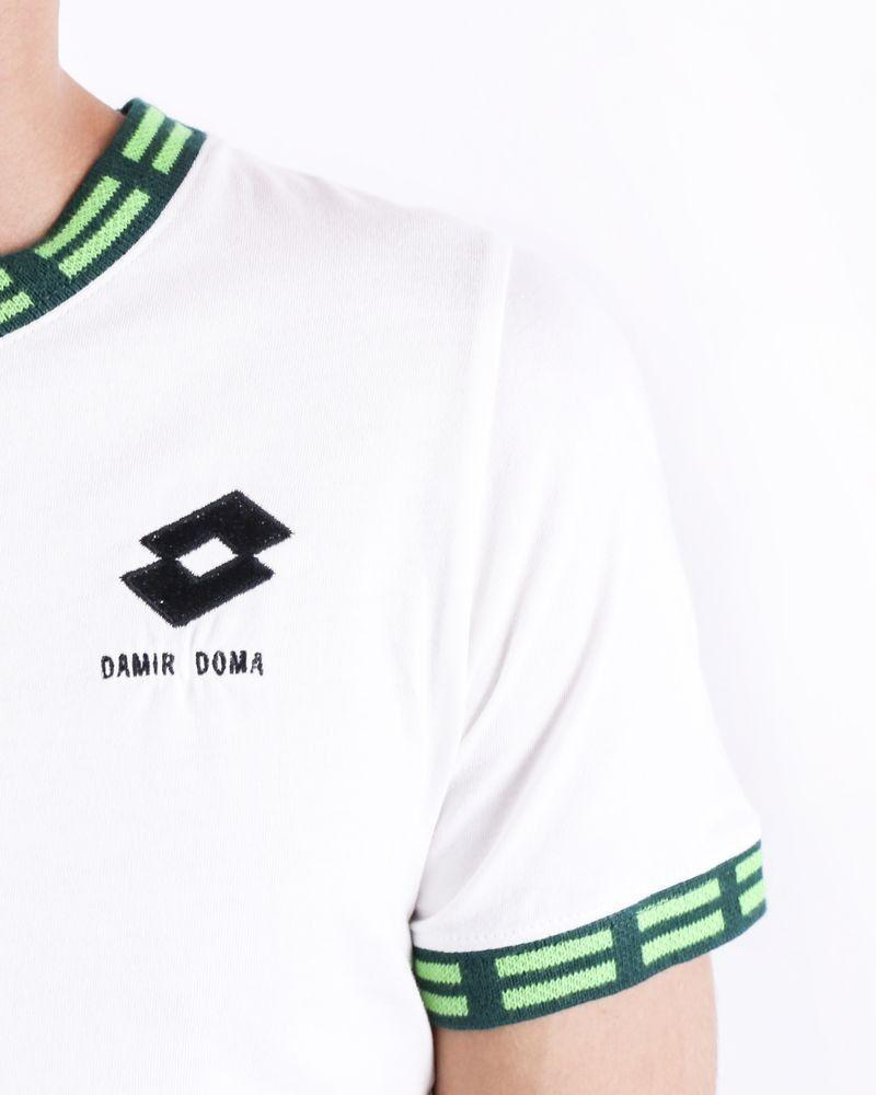 T-Shirt en coton blanc à logo Damir Doma