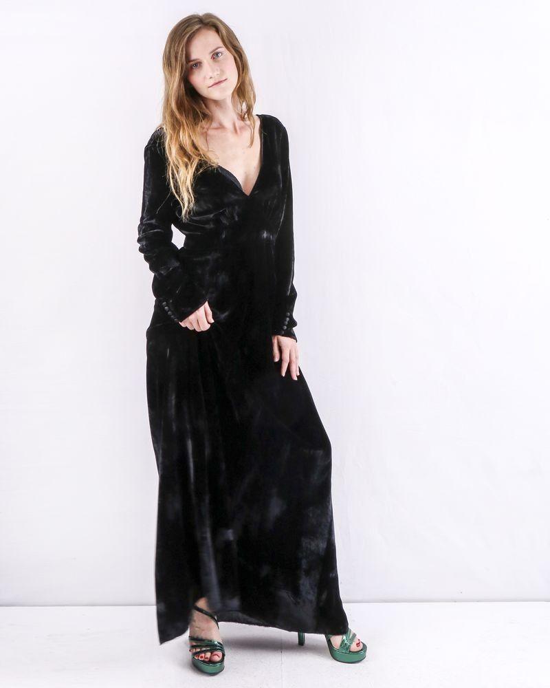 Robe empire en velours noir Forte Forte