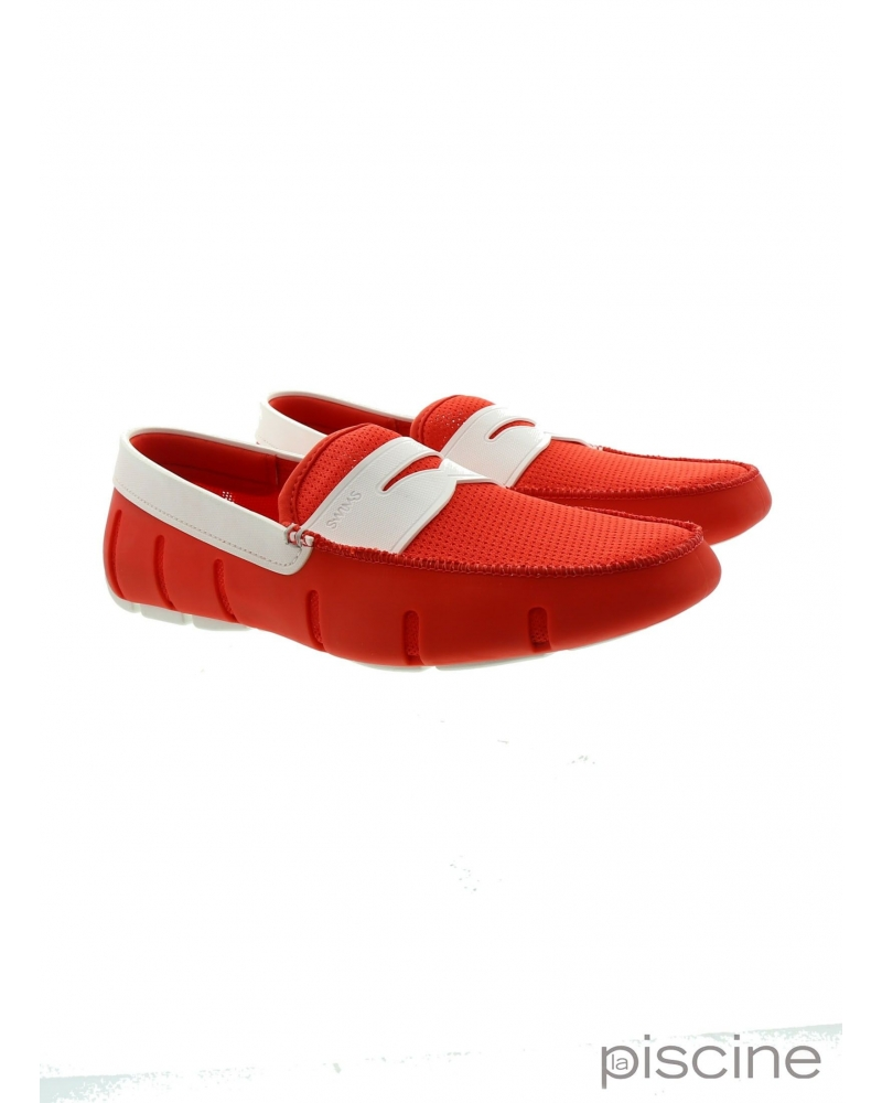 Mocassin Rouge et blanc Swims