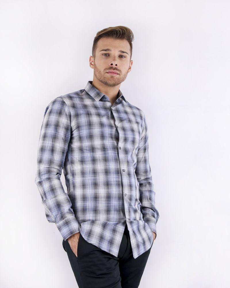 Chemise grise à carreaux Pal Zileri